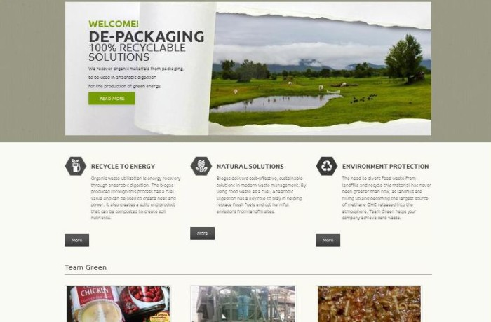 Food To Biogas Website